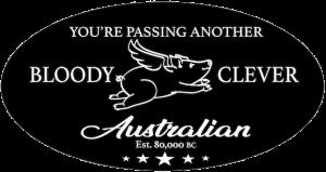 Bloody Clever Australian Logo 573